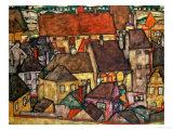 Egon Schiele - Yellow City, 1914 Digitálně vytištěná reprodukce
