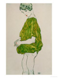 Woman, Standing, with Hands Clasped, 1914 Giclee Print by Egon Schiele