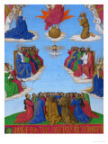 Les Heures D'Etienne Chavalier: All Saints' Day Also Called the Ascension of the Holy Ghost Giclee Print by Jean Fouquet