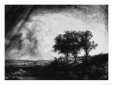 &#39;The Three Trees&#39;, 1643 Giclee Print by Rembrandt van Rijn 