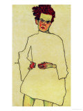 Selfportrait with Shirt, 1910 Giclee-vedos tekijn Egon Schiele