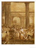 The Meal at the Pharisee Simon's House (Luke 7) Giclee Print by Giovanni Battista Tiepolo