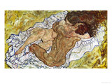 Embrace (Lovers II), 1917 Giclee Print by Egon Schiele