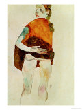 Standing Girl with Raised Skirt, 1911 Giclee-vedos tekijänä Egon Schiele