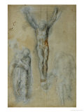 Christ on the Cross Between the Virgin Mary and Saint John () Reproduction proc&#233;d&#233; gicl&#233;e par Michelangelo Buonarroti 