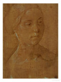 Portrait of a Woman, Three-Quarter Face, Hair Held in a Net Giclee Print by Lorenzo di Credi