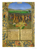 A Battle Between Romans and Carthaginians, Probably the Battle of Cannae (216 BCE) Giclee Print by Jean Fouquet