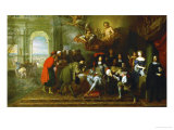 The Peace Treaty of Nijmegen, 1678, King Louis XIV (Center) Giclee Print by Charles Le Brun
