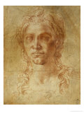 Female Idealized Head, 1520-1530 Giclee Print by  Michelangelo Buonarroti