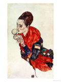 Portrait of the Actress Marga Boerner with Compact, 1917 Giclee Print by Egon Schiele