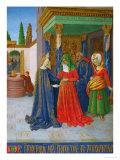Les Heures D'Etienne Chavalier: The Visitation Giclee Print by Jean Fouquet