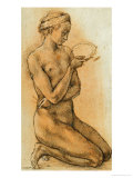 Mary Magdalen Contemplating the Crown of Thorns Giclée-tryk af Michelangelo Buonarroti