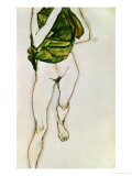 Striding Torso in Green Shirt, 1913 Giclee Print by Egon Schiele