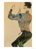 Self-Portrait with Raised Arms, Rear View, 1912 Giclee Print by Egon Schiele