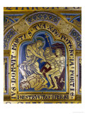 Christ's Descent into Hell, Enamel, Verdun Altar, Begun 1181 Reproduction procédé giclée par Nicholas of Verdun