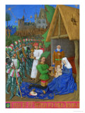 Les Heures D&#39;Etienne Chavalier: Adoration of the Three Magi Reproduction proc&#233;d&#233; gicl&#233;e par Jean Fouquet