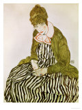 Edith Schiele, the Artist's Wife, Seated, 1915 Giclee Print by Egon Schiele