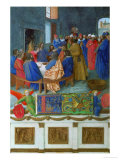 Les Heures D'Etienne Chavalier: The Last Supper Giclee Print by Jean Fouquet