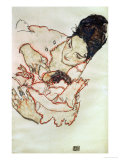 Nursing Mother (Stephanie Gruenwald) 1917 Reproduction proc&#233;d&#233; gicl&#233;e par Egon Schiele