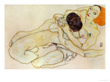 Two Girls (Lovers), 1914 Giclee Print by Egon Schiele