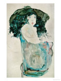Girl with Blue-Black Hair and Hat, 1911 Giclee Print by Egon Schiele