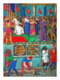 Les Heures D&#39;Etienne Chavalier: Christ Before Pilate Giclee Print by Jean Fouquet