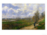 Pathway at Lechou, 1878 Giclee Print by Camille Pissarro