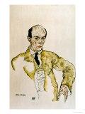 Composer Arnold Schoenberg, 1917, Egon Schiele, Giclee Print