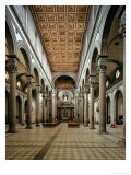 Interior Looking Towards the Apse Giclée-tryk af Filippo Brunelleschi