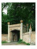 Entrance Gate to Jaegerhof, a Hunting Lodge Near Glienicke Palace, Berlin Giclee Print by Karl Friedrich Schinkel