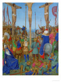 Les Heures D'Etienne Chavalier: The Crucifixion Giclee Print by Jean Fouquet