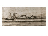 Het Molentje (The Small Mill), Seen from Amsteldijk Giclee Print by Rembrandt van Rijn