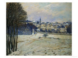 Alfred Sisley - La Neige a Marly-Le-Roi, 1875, Snow at Marly-Le-Roi - Giclee Baskı