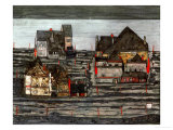 Suburb I, 1914 Giclee Print by Egon Schiele