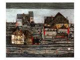 Suburb I, 1914 Giclee Print by Egon Schiele