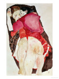 Two Girls (Lovers), 1911 Giclee Print by Egon Schiele
