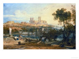 Lincoln Cathedral from the Holmes, Brayford Circa 1802-3 Giclee Print by William Turner