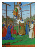 Les Heures D'Etienne Chavalier: Descent from the Cross Giclee Print by Jean Fouquet