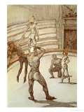 Acrobats in the Circus Giclee Print by Henri de Toulouse-Lautrec