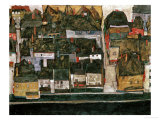 The Small City IV, (Krumau on the Moldau), 1914 Giclee-vedos tekijn Egon Schiele