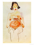Red Nude, Pregnant, 1910 Giclee Print by Egon Schiele