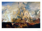 Battle of Trafalgar, 21 October 1805 Stampa giclée di J. M. W. Turner