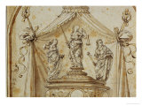 Study for a Funeral Monument Giclee Print by Lorenzo di Credi
