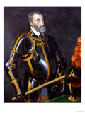 Emperor Charles (Karl) V (1500-1558), in Whose Realm &#39;The Sun Never Set&#39; Giclee Print by Titian (Tiziano Vecelli) 