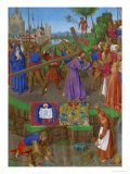 Les Heures D&#39;Etienne Chavalier: The Carrying of the Cross Giclee Print by Jean Fouquet