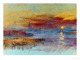 Sunset on Rouen Giclee-trykk av William Turner