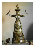 Minoan, Earthenware Figure of Snake Goddess, 1700-1400 BC Giclee Print