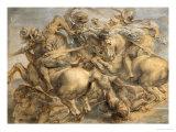 Battle of Anghiari Giclée-tryk af Peter Paul Rubens