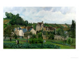 The Hermitage in Pontoise, 1867 Giclee Print by Camille Pissarro
