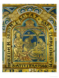 Isaac is Born to Abraham and Sarah, Verdun Altar, Begun 1181, Enamel Giclee Print by  Nicholas of Verdun